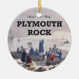 ABH Plymouth Rock Christmas Ornament