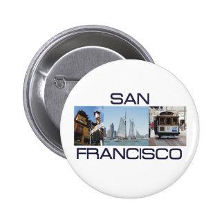 ABH San Francisco 6 Cm Round Badge