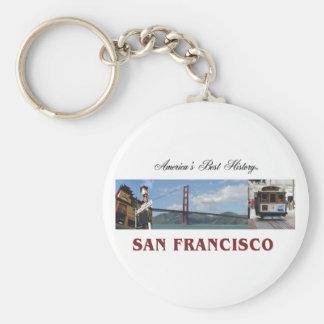 ABH San Francisco Basic Round Button Key Ring
