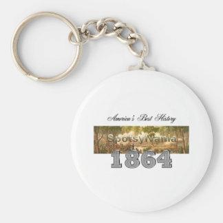 ABH Spotsylvania Basic Round Button Key Ring