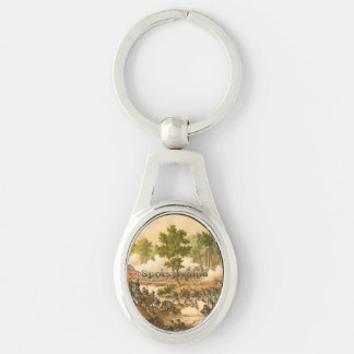 ABH Spotsylvania Silver-Colored Oval Key Ring