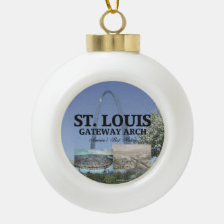 ABH St. Louis Gateway Ceramic Ball Decoration