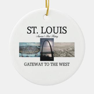 ABH St. Louis Gateway Round Ceramic Decoration