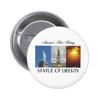 ABH Statue of Liberty 6 Cm Round Badge