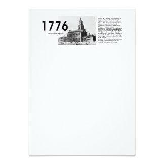 ABH Timeline 1776 13 Cm X 18 Cm Invitation Card