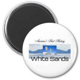 ABH White Sands 6 Cm Round Magnet