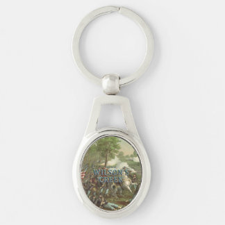 ABH Wilson's Creek Silver-Colored Oval Key Ring
