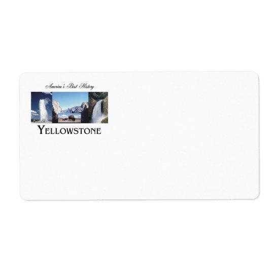ABH Yellowstone Shipping Label