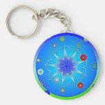 AbhaKingdom3 Basic Round Button Key Ring