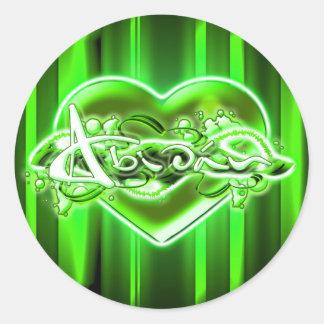 Abidán Round Sticker