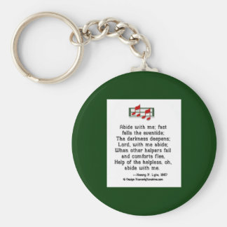Abide With Me Basic Round Button Key Ring