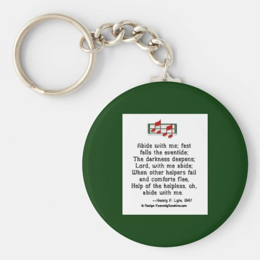 Abide With Me Key Chains