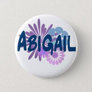 Abigail 6 Cm Round Badge