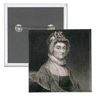 Abigail Adams, engraved by G.F. Storm (fl.c.1834) 15 Cm Square Badge
