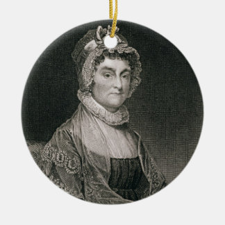 Abigail Adams, engraved by G.F. Storm (fl.c.1834) Christmas Ornament