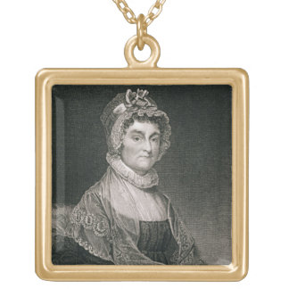 Abigail Adams, engraved by G.F. Storm (fl.c.1834) Gold Plated Necklace