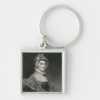 Abigail Adams, engraved by G.F. Storm (fl.c.1834) Silver-Colored Square Key Ring