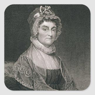 Abigail Adams, engraved by G.F. Storm (fl.c.1834) Square Sticker