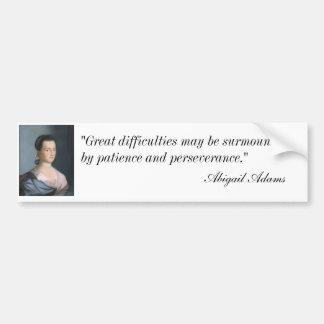 Abigail Adams Portrait & Quote Bumpersticker Bumper Sticker