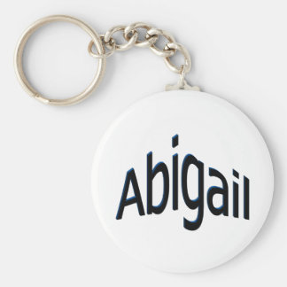 Abigail Basic Round Button Key Ring