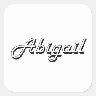 Abigail Classic Retro Name Design Square Sticker