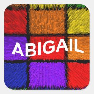 ABIGAIL ( female names ) Square Sticker