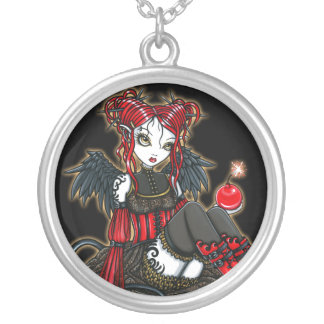 """Abigail"" Gothic Cherry Bomb Devil Fae Necklace"