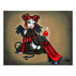 """Abigail"" Gothic Cherry Bomb Devil Fae Poster"