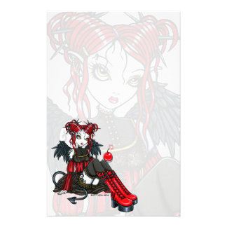 """Abigail"" Gothic Fairy Cherrybomb Angel Stationery"