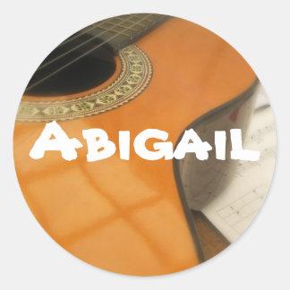 Abigail guitar name label sticker