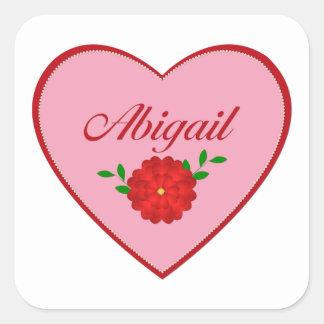 Abigail (heart) square sticker