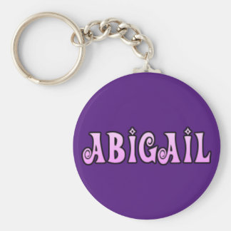 Abigail key ring basic round button key ring