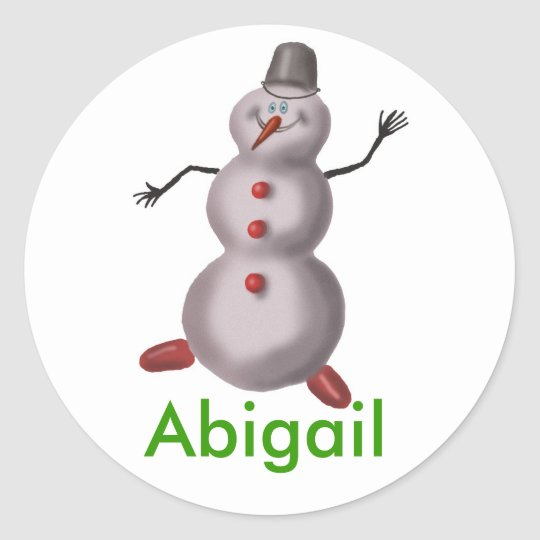 Abigail personalised name stickers