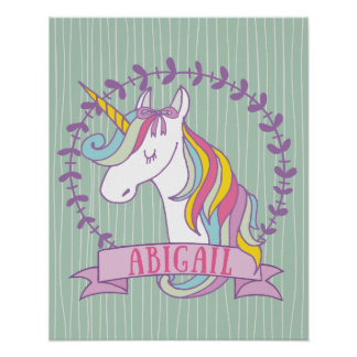 Abigail Personalized Unicorn Poster