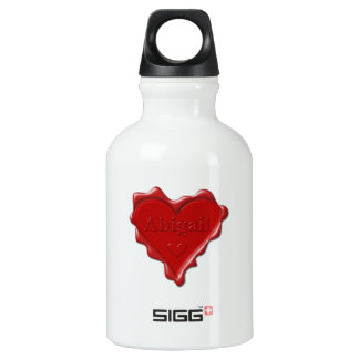 Abigail. Red heart wax seal with name Abigail SIGG Traveller 0.3L Water Bottle
