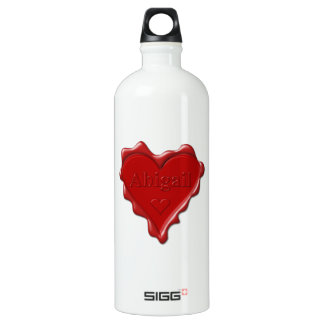 Abigail. Red heart wax seal with name Abigail SIGG Traveller 1.0L Water Bottle