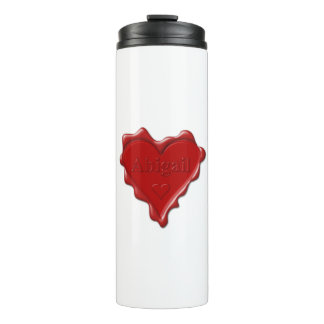 Abigail. Red heart wax seal with name Abigail Thermal Tumbler
