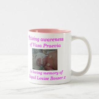 Abigail - regular size pink mug