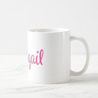 Abigail Stylish Cursive Coffee Mug