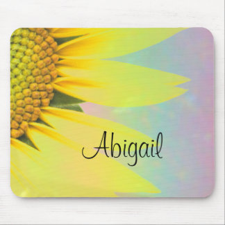 Abigal rainbow sunflower mouse mat