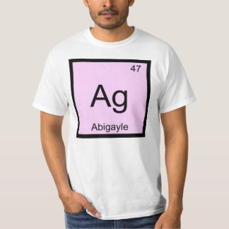 Abigayle Name Chemistry Element Periodic Table Tee Shirt