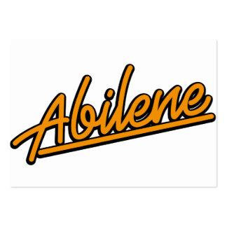 Abilene in orange business card templates