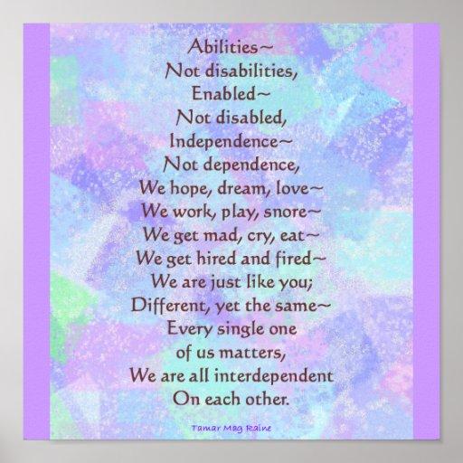 Abilities Poem Poster