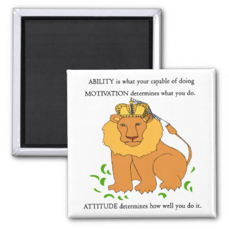Ability - Motivation - Attitude Fridge Magnets