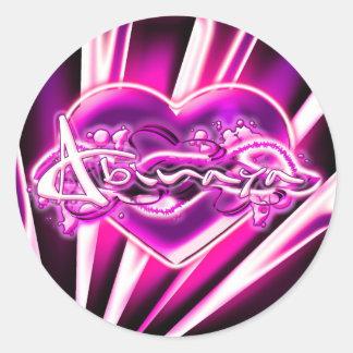Abinaya Round Sticker
