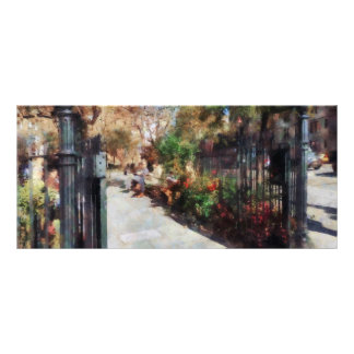 Abingdon Square Park Greenwich Village Customized Rack Card