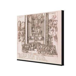 Abjuration of Henri IV Canvas Print