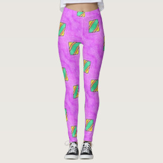 ABL - 074 - Violet with patches - Leggings