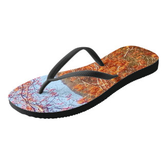 Ablaze With Fiery Colour Flip Flops