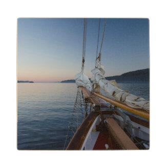 Aboard SV Maple Leaf Wood Coaster